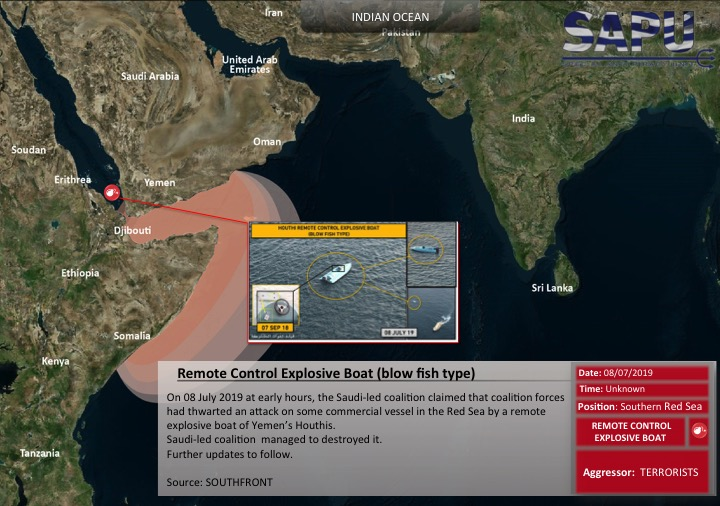 remote control explosive boat  blow fish type